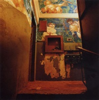 a stairwell by agey tomesh design bureau