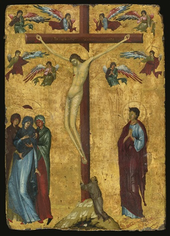 The Crucifixion with Saint Francis by Master of the Latin