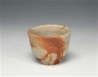 a bizen porcelain sake cup by fujiwara kei