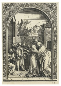 joachim and anna at the golden gate by albrecht dürer