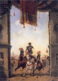 roman chariot by emilio vasarri