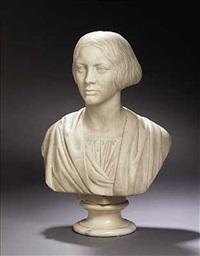 skuespillerinden og forfatteren johanne louise heiberg i romersk toga by henrik benedikt olrik