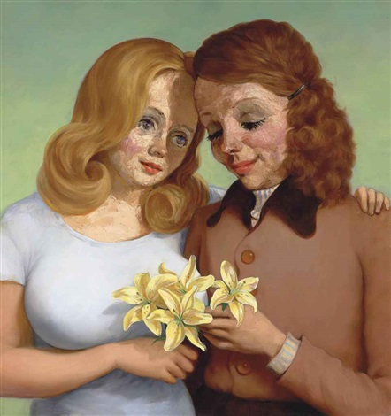 daughter and mother by john currin
