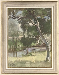 a summer afternoon by the river by william oliphant hutchison