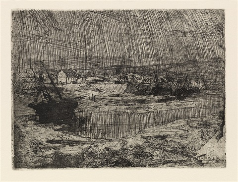 fishing boats at shore brittany by henry ossawa tanner