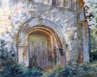 portail de l'église de thaon by emile leroi