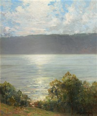 the river in summer by bayard henry tyler