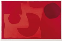 red garden by patrick heron