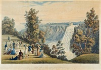 the falls of montmerancy (québec in the distance), pl. 4 by james pattison cockburn