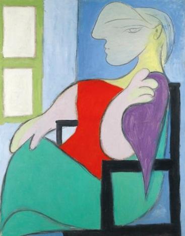 femme assise près dune fenêtre by pablo picasso