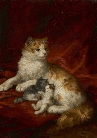 chatte et chatons by marie yvonne yo laur