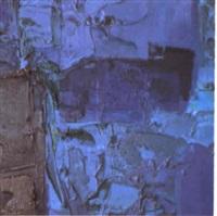 blue brown composition by bernat klein