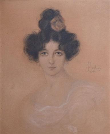 portrait de femme au chignon by franz seraph von lenbach