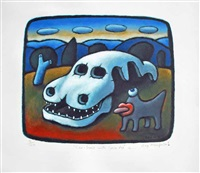 car-bone with space dog by reg mombassa