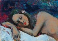 裸女 — 睡姿 (sleeping nude) by shen che tsai