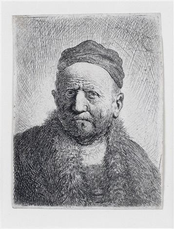 man wearing a close cap bust the artists father by rembrandt van rijn