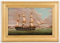 the merchant barque 'renown' heading down the clyde outward-bound for the west indies by duncan mcfarlane