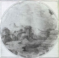ruines dans un paysage by gabriel perelle