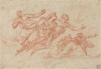 figures plafonnantes (dante visitant les enfers?)(study) by giovanni mannozzi
