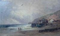 bord de mer à marée basse by alfred godchaux
