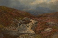 a moorland tarn by james faed the younger