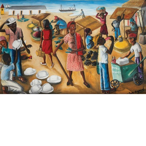 at the market by wilson bigaud