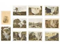 the victoria falls, zambesi river, sketched on the spot (11 works) by john thomas baines