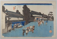 série des 53 stations de la route du tokaido. planche 41 - narumi by ando hiroshige