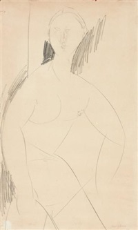 nu féminin assis by amedeo modigliani
