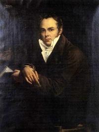 portrait de peintre (autoportrait?) by pierre antoine augustin vafflard