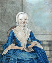 portret van maria perpetua van goens by isaac lodewijk de la fargue van nieuwland