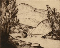 a mountain stream by frémont ellis