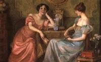 damen der gesellschaft (linke dame vermutlich selbstbildnis by otolia kraszewska