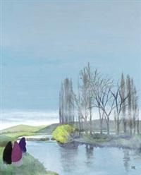 paisaje fluvial by manuel de las casas