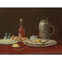 still life with oysters by nicholas alden brooks