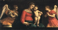 the madonna and child with adoring angels by antonio vassilacchi