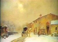 paysage de neige anime by a. lenoir