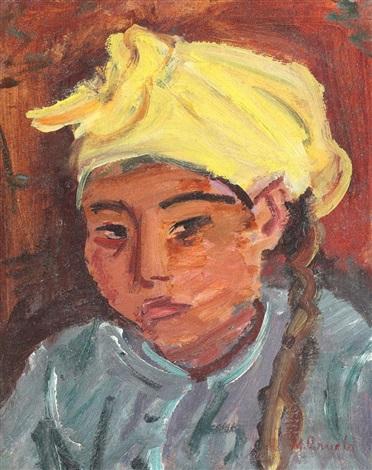 tătăroaică cu batic galben by max arnold