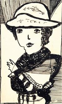 portrait de femme by madge gill