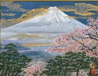 the mount fuji in spring by sumio goto