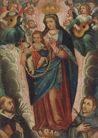 the adoration of the virgin and child by peruvian school-cuzco (19)