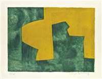 composition in green and yellow by serge poliakoff