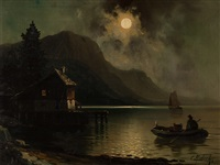 a full moon night by karl rodeck