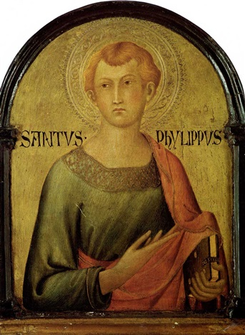 saint philip by simone martini