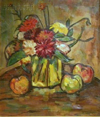 still life with flowers and fruit by maurice andre