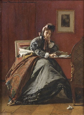 trahie perplexite by alfred stevens