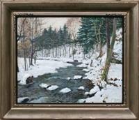 potok v zimě by oldrich hlavsa