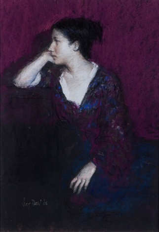 contemplation in purple by judy drew