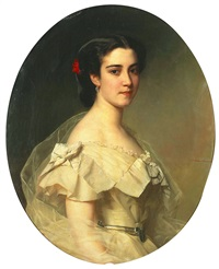 portrait of the baroness lina yxkull-gyllenband by h. m. müller