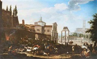 campo vaccio (forum romanum) by jacob de heusch
